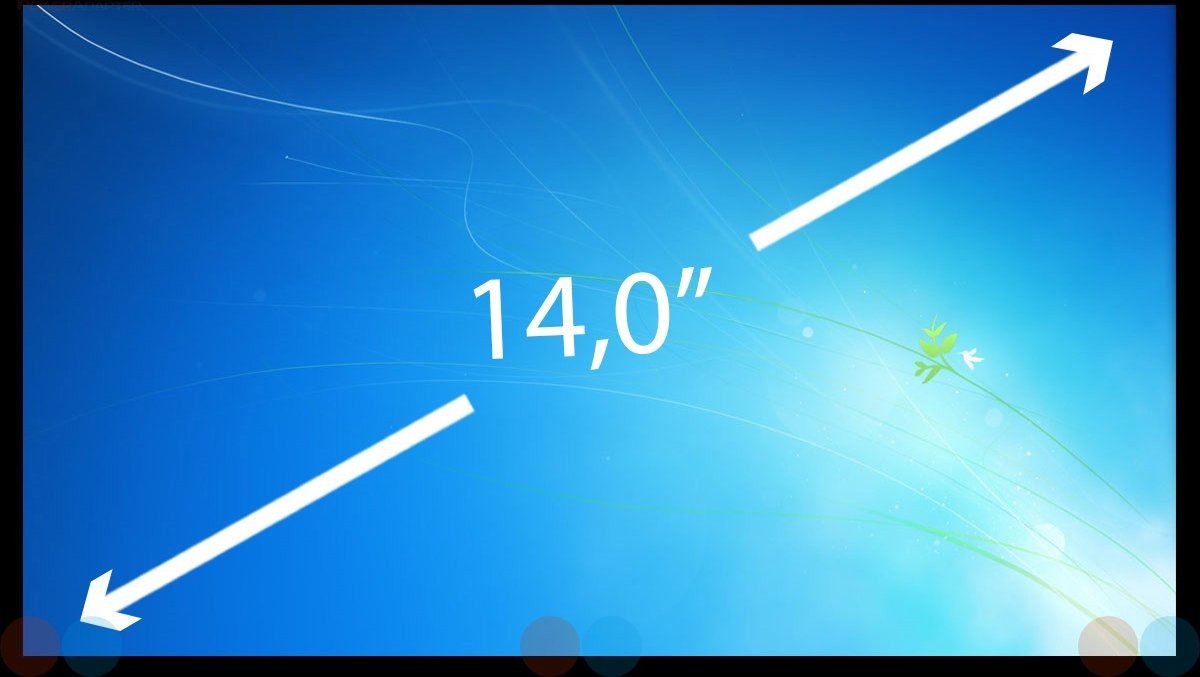14.0 inch Laptop Scherm Thin IPS Full HD 1920x1080 No Brackets N140HCA-EBA REV.B2