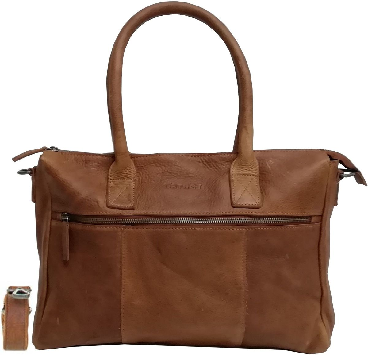 DSTRCT Raider Road - Dames Laptop Schoudertas - 15,6 inch - Cognac