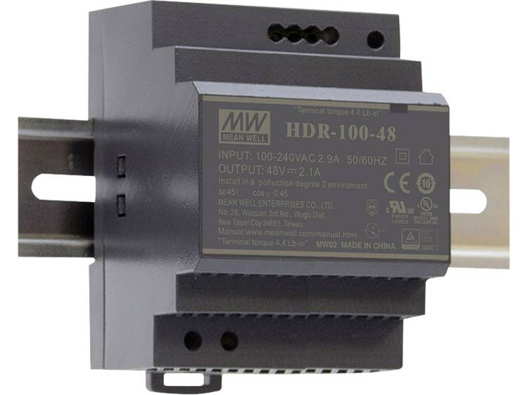 Mean Well HDR-100-12 DIN-rail netvoeding 12 V/DC 7.1 A 85.2 W 1 x