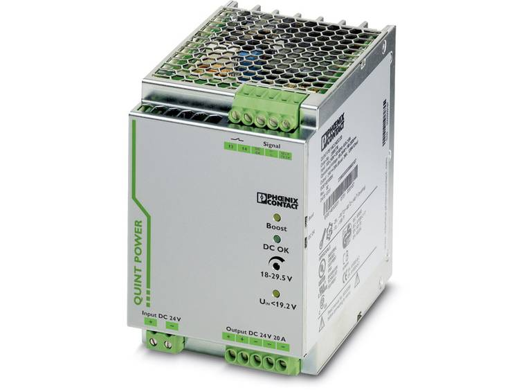Phoenix Contact QUINT-PS/24DC/24DC/20 DIN-rail netvoeding 24 V/DC 20 A 1 x