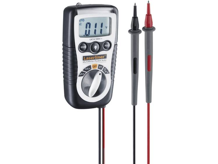 Laserliner MultiMeter-Pocket Auto Multimeter Digitaal CAT III 1000 V Weergave (counts): 2000