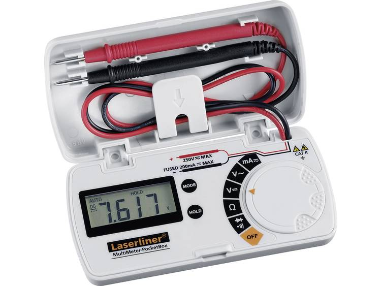 Laserliner MultiMeter Pocket Box Multimeter Digitaal CAT II 250 V Weergave (counts): 3.5