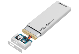 CELLULAR-LINE Portable Charger USB Free Power Slim 5000mAh Wit