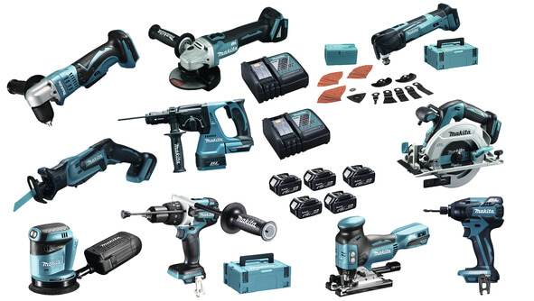 Makita DLX1002MJ1 combiset 10 machines&5 x 4Ah accu's