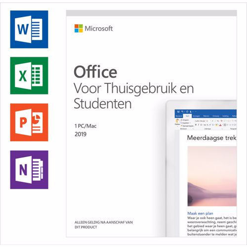 Microsoft Office 2019 Home & Student (1 licentie)