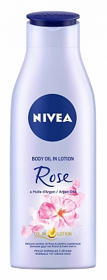 Nivea Body Oil In Lotion Rose And Argan Olie
