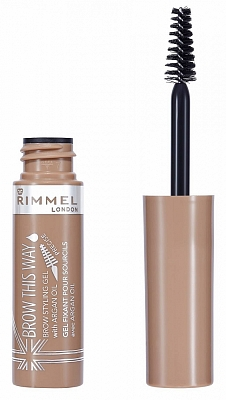 Rimmel Brow This Way Brow Styling Gel With Argan Oil 001 Blonde