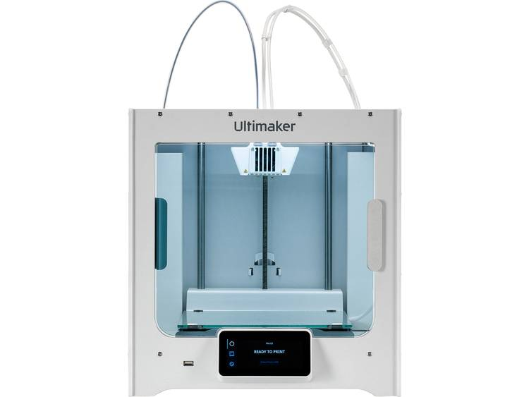 Ultimaker S3 3D-printer Verwarmd printbed, Dual nozzle-systeem (Dual Extruder)
