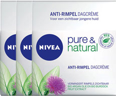 Nivea Pure and Natural Dagcreme Anti-age Voordeelverpakking 3x50ml