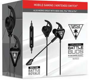 Turtle Beach Gaming Headset Zwart - Battlebud (PS4 + Switch + Xbox One + PC + Mobile)