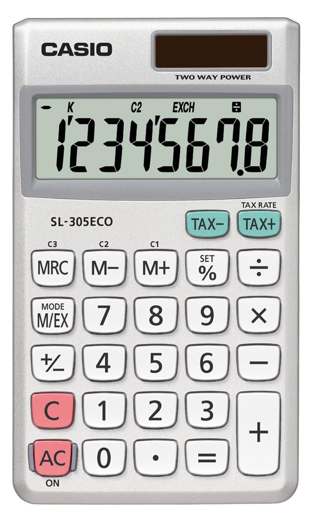 Casio zakrekenmachine SL-305 ECO