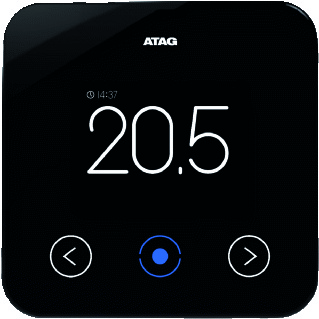 ATAG One 2.0 slimme thermostaat, zwart