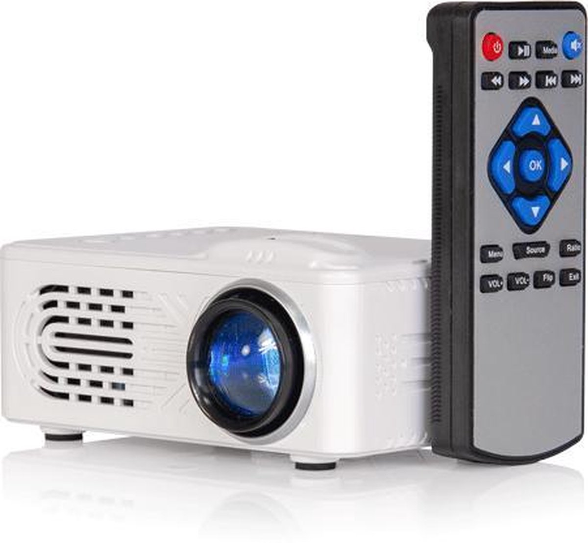Mini LED Video projector met batterijen
