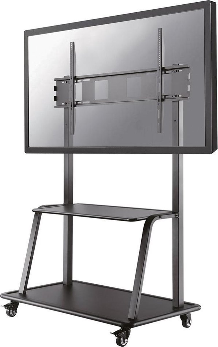 Mobile Flat Screen Floor Stand (stand+trolley) (height: 137-162 cm)