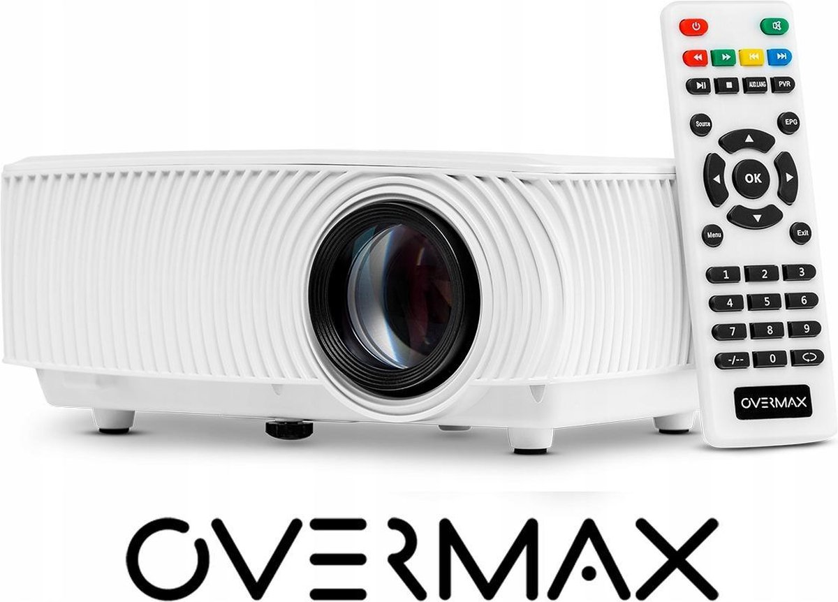 Overmax - Multipic 2.4 - Beamer- projector - LED - FULL HD - WIFI - Wit
