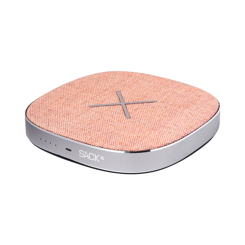 SACKit CHARGEit - Power Bank&wireless Charger ( Rose )