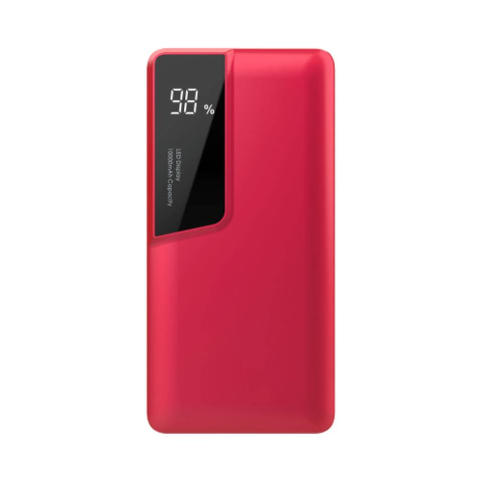 V-tac VT-3511 Powerbank met display - 10.000 mAh - Rood