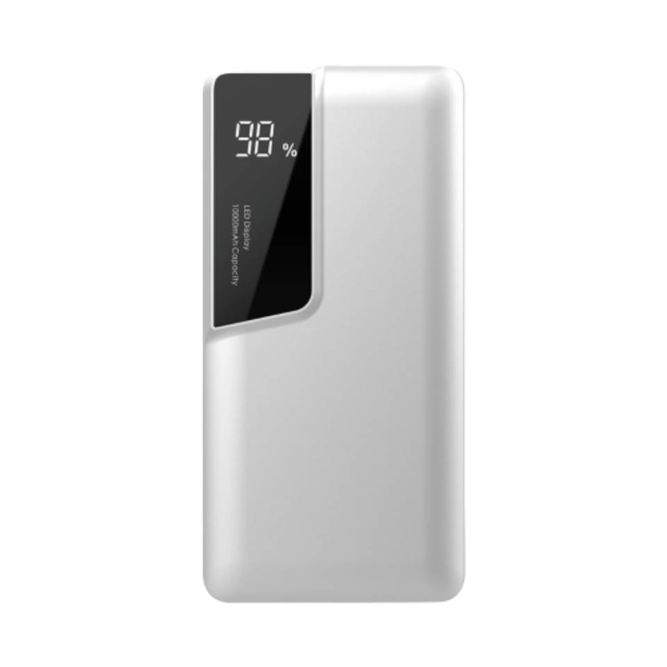 V-tac VT-3511 Powerbank met display - 10.000 mAh - Wit