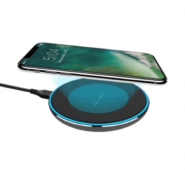 XQISIT Wireless Fast Charger 10W zwart