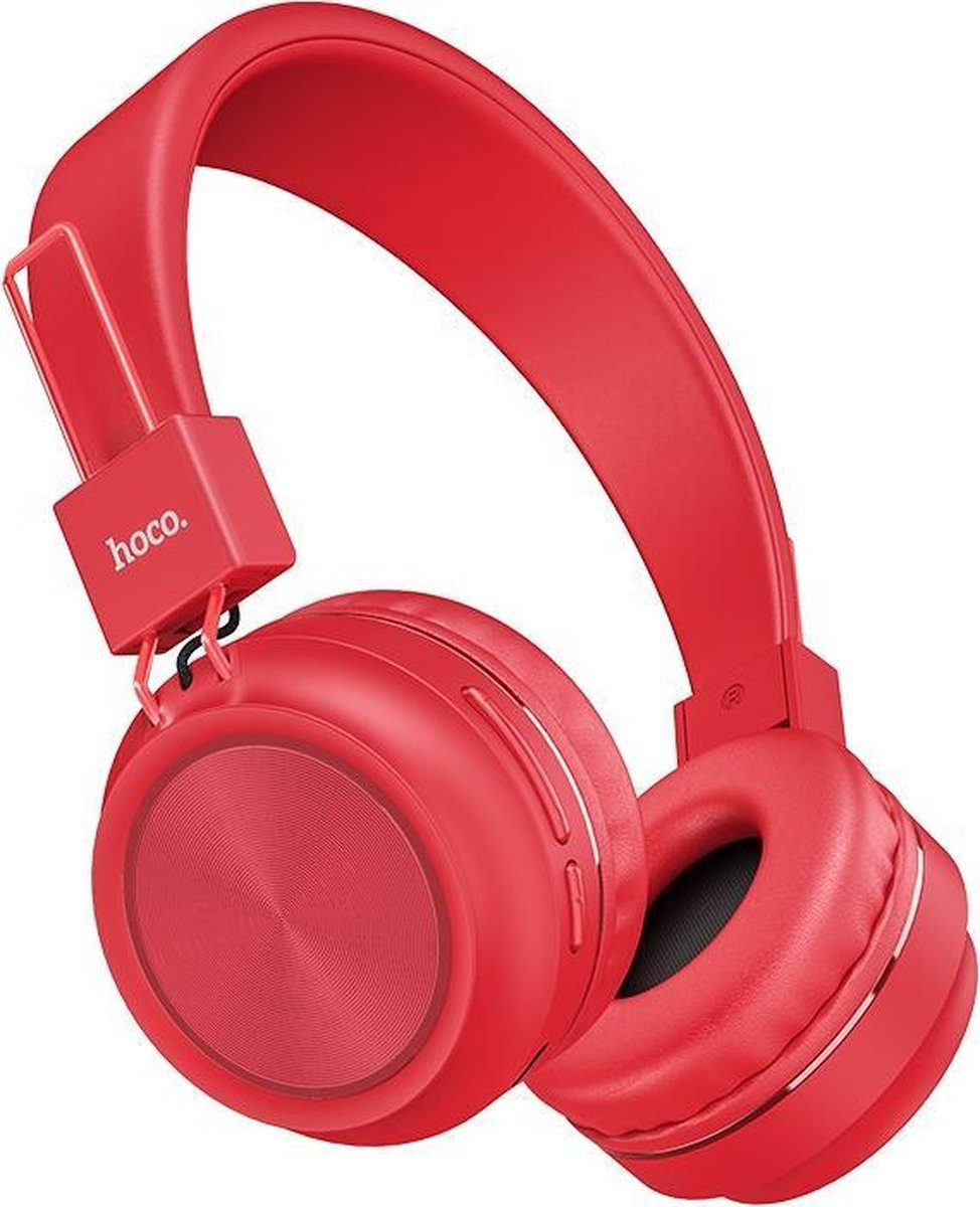 HOCO W25 Promise - Draadloze On-Ear Koptelefoon - Bluetooth - Rood