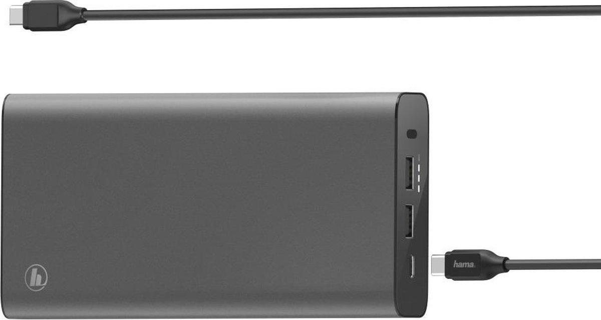 Hama - universeel USB-C-Power Pack, 26800 mAh, Power Delivery (PD), 5-20V/60W