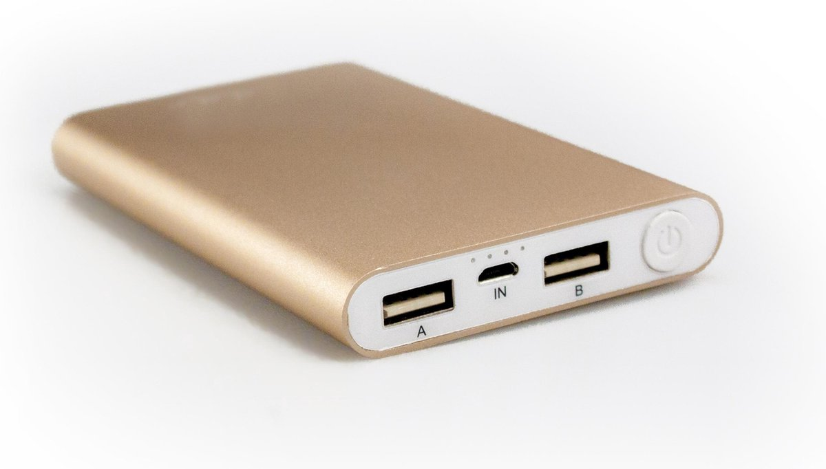 Mr Handsfree Portable Charger 8.000 mAh GOLD