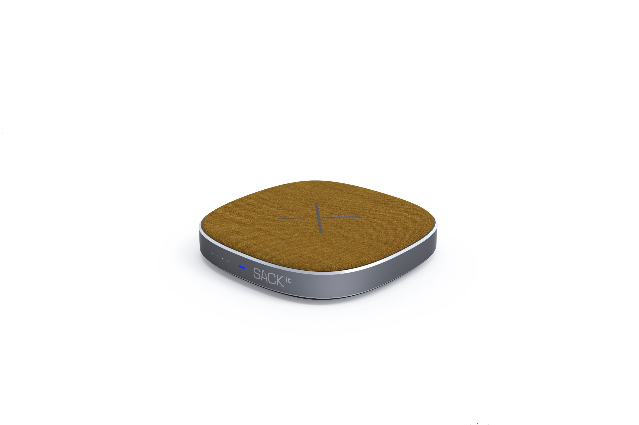 SACKit CHARGEit - Power Bank&wireless Charger ( Curry )