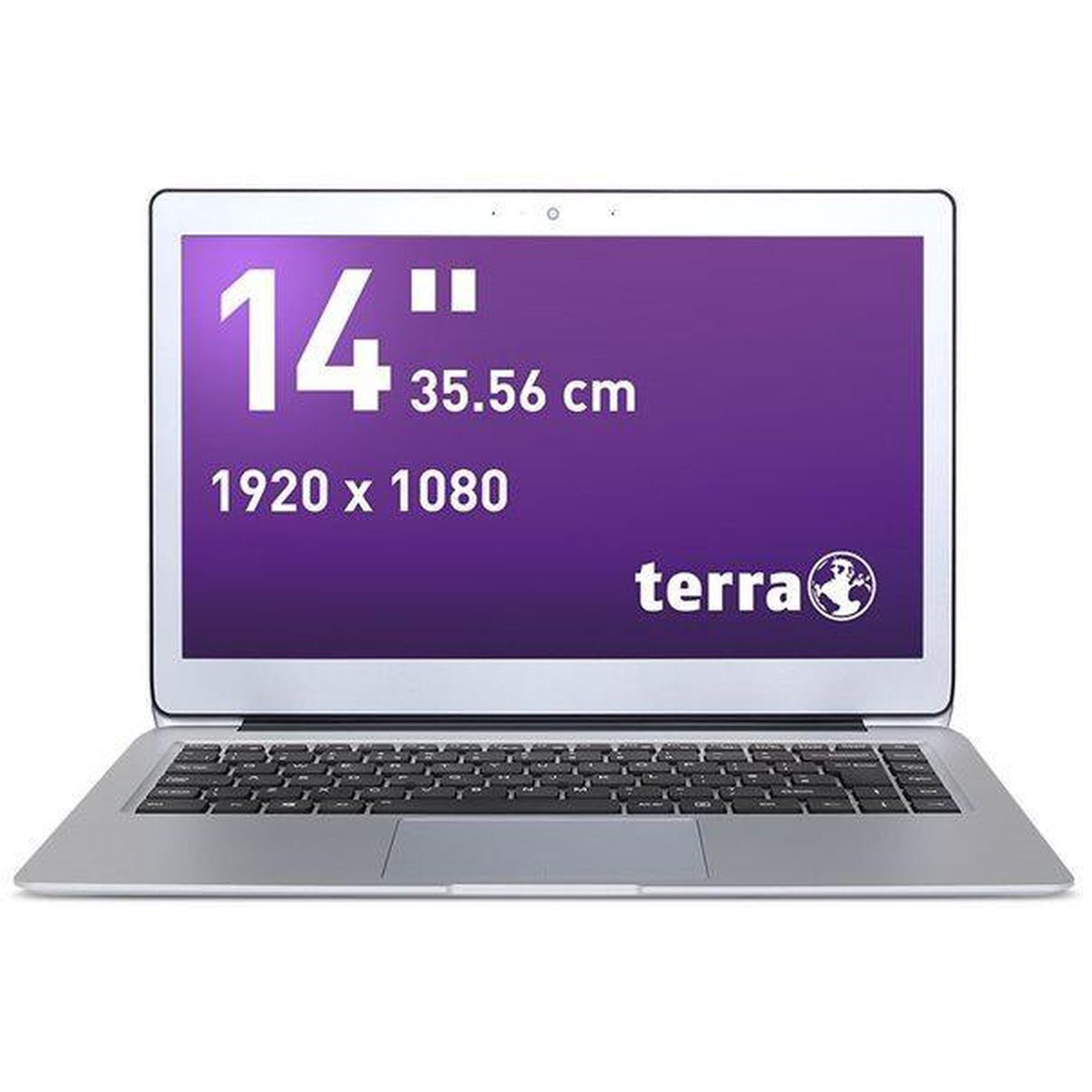 "Terra mobile 1460p 14"" full-hd laptop, i5-8200y, 8gb, 256gb ssd, windows 10"