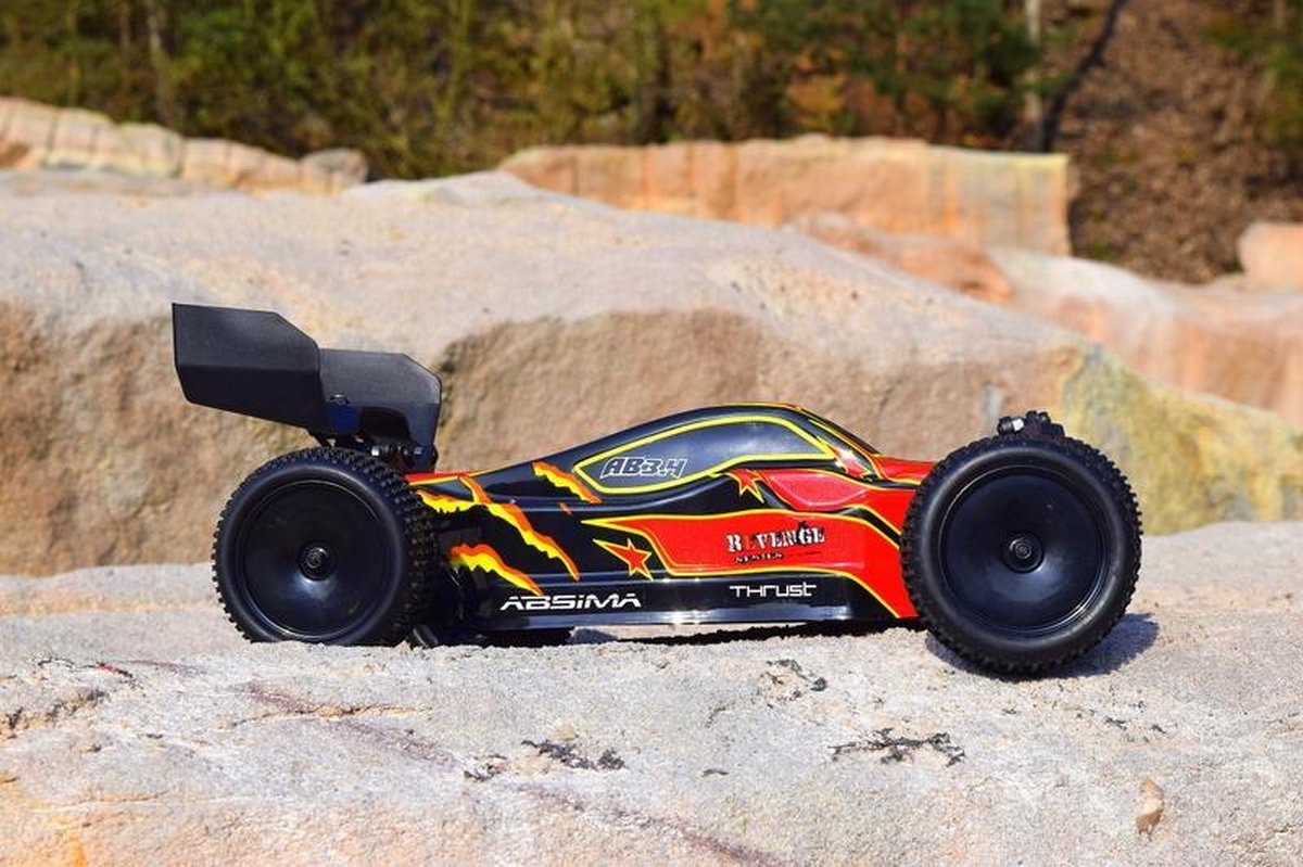 """Absima - Afstandsbestuurbare Auto RTR """"Ready To Run"""" inclusief zender - Ab3.4 1:10 Brushed RC Auto Elektro Buggy 4Wd"""
