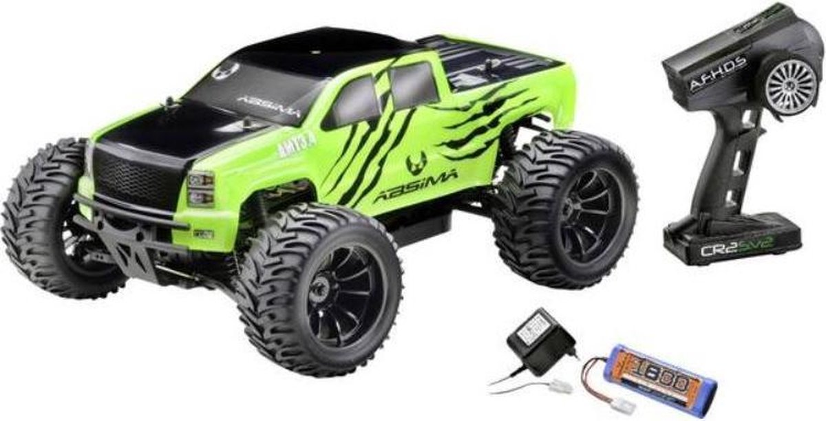 Absima Amt3.4 1:10 Brushed Rc Auto Elektro Monstertruck 4Wd Rtr 2 4 Ghz Incl. Accu En Lader