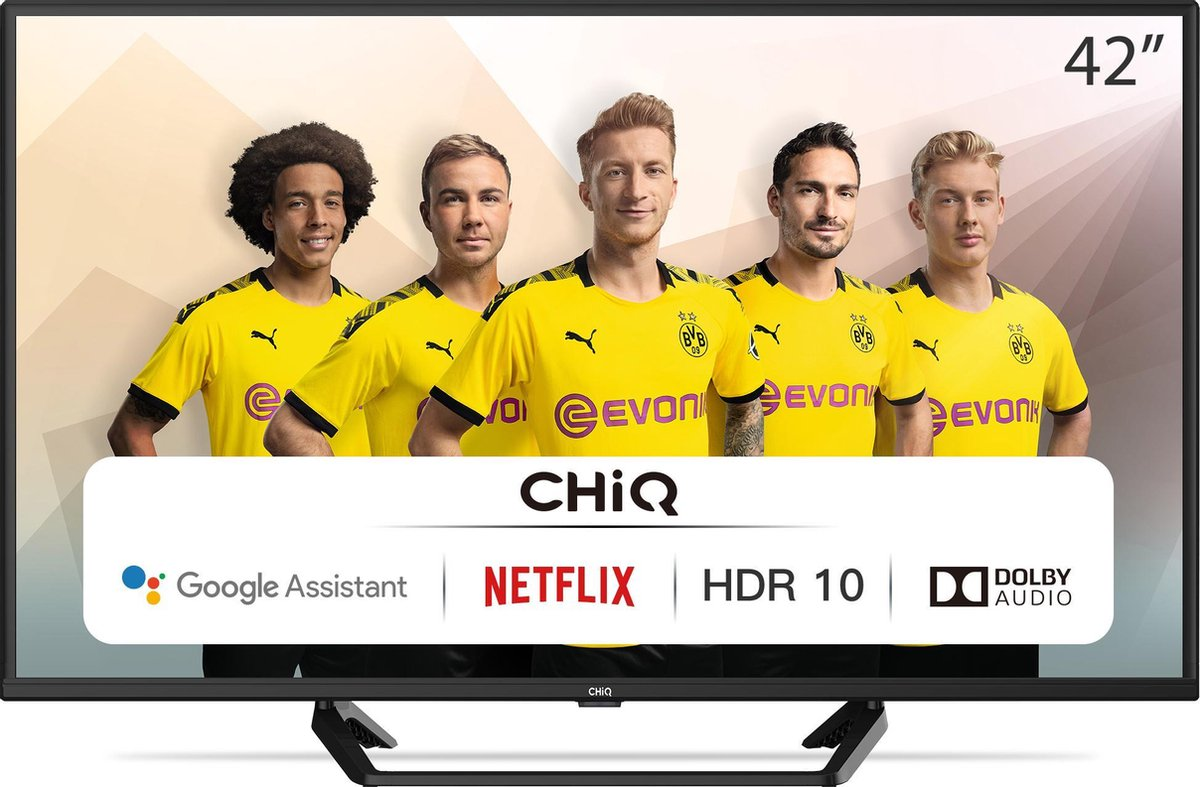 CHiQ L42G6F - 42 inch Android TV - 2K FHD(1920 * 1080) HDR10 - Dolby audio - Chromecast