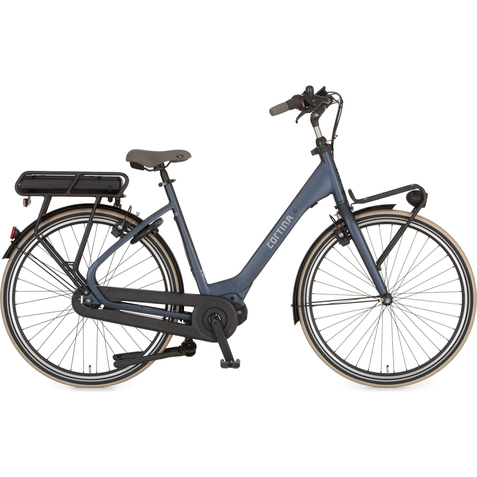 Cortina E-Common Family Moederfiets 50 cm Mill Blue Matt HB7 M420 43V
