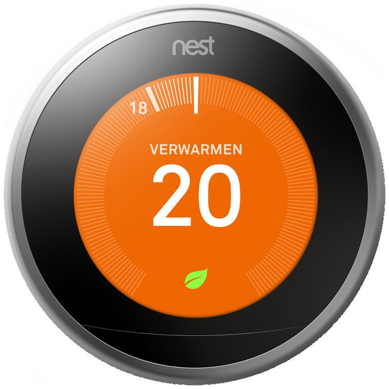 Google Nest Learning Thermostat Steel