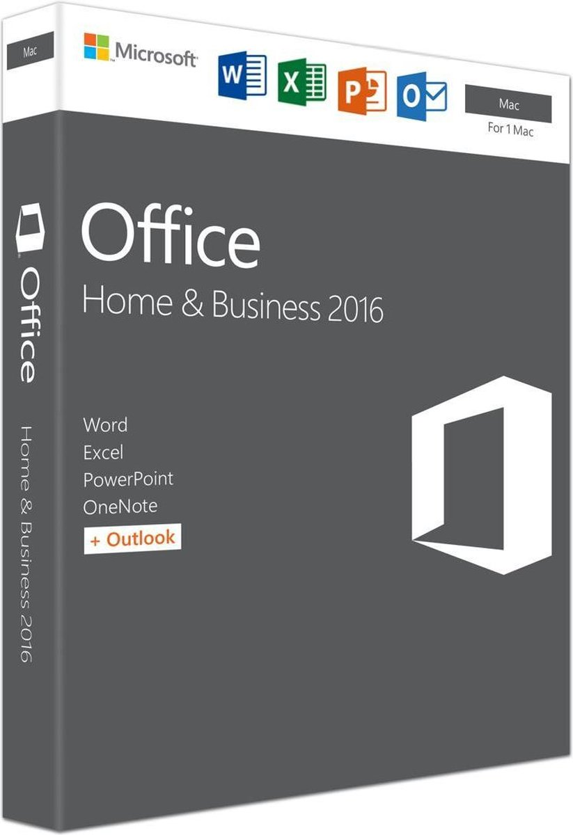 Microsoft Office 2016 Home & Business - Mac - Engels