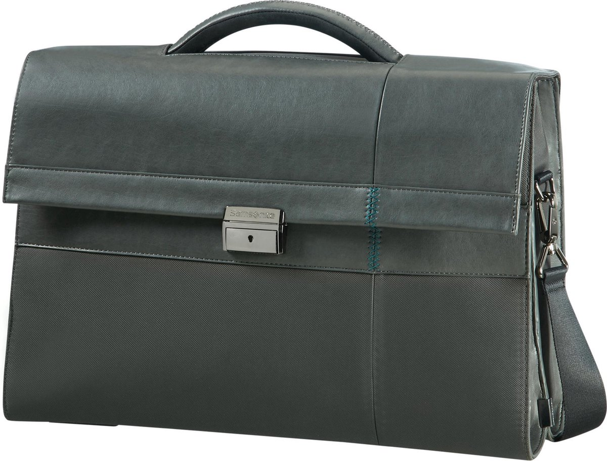 """Samsonite Laptop-Aktetas - Formalite Briefcase 2 Gussets 15.6"""" Grey"""
