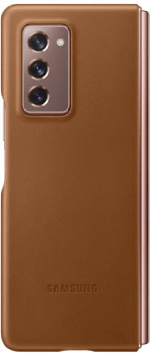 Samsung leather cover voor Samsung Galaxy Fold 2 - Bruin