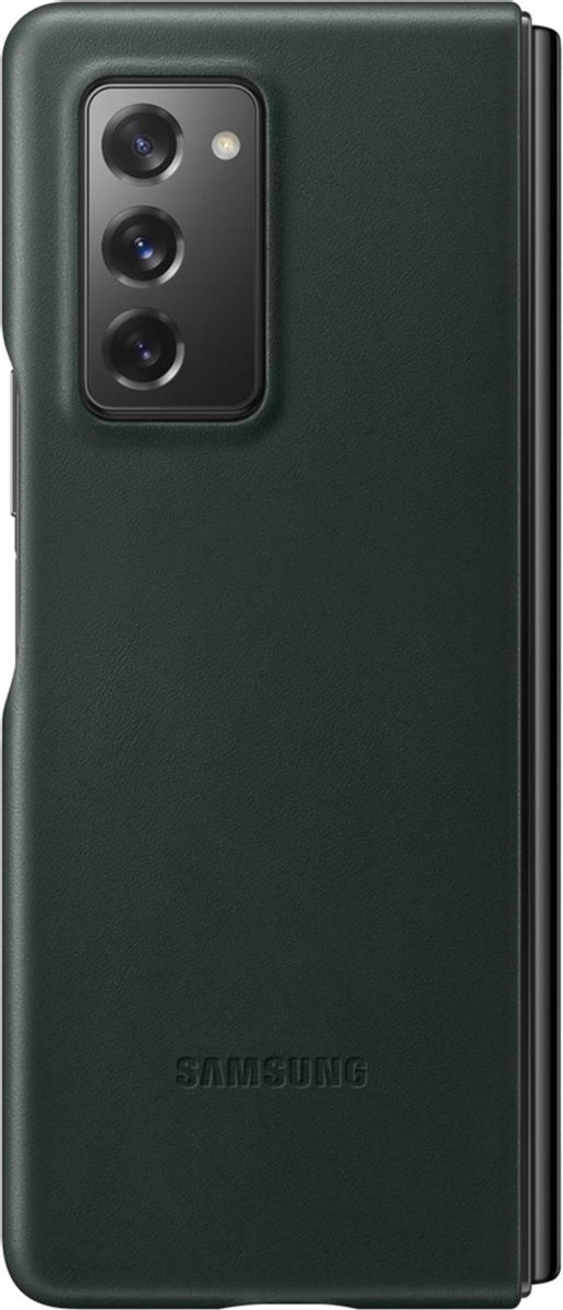 Samsung leather cover voor Samsung Galaxy Fold 2 - Groen