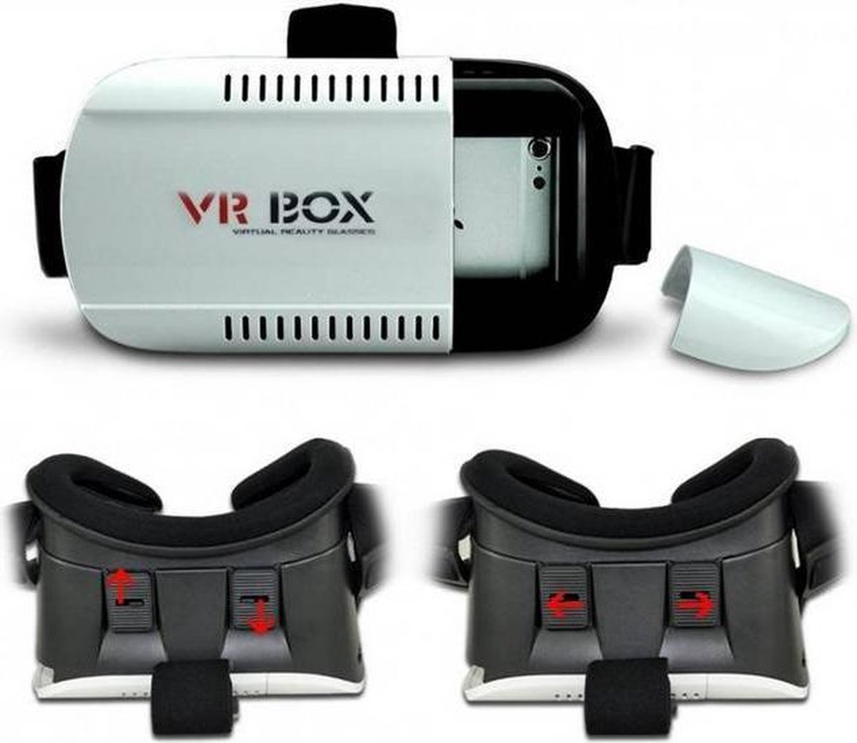 Virtual Reality Box - VR bril - Luxe Virtual Reality Bril - Wit - 3.5 tot 6 inch