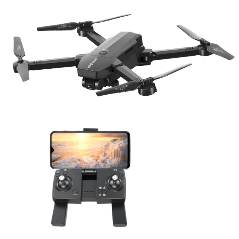 1906 5G WIFI FPV GPS Met 4K HD ESC Dubbele camera Optische stroom Visuele positionering Opvouwbare RC Drone Quadopter RT