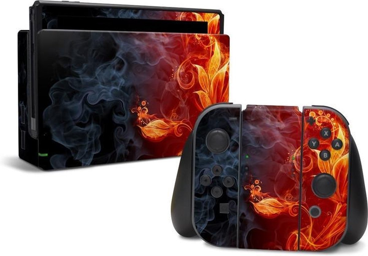 Flowers of Fire | Nintendo Switch Console skin | Switch console en controller stickers