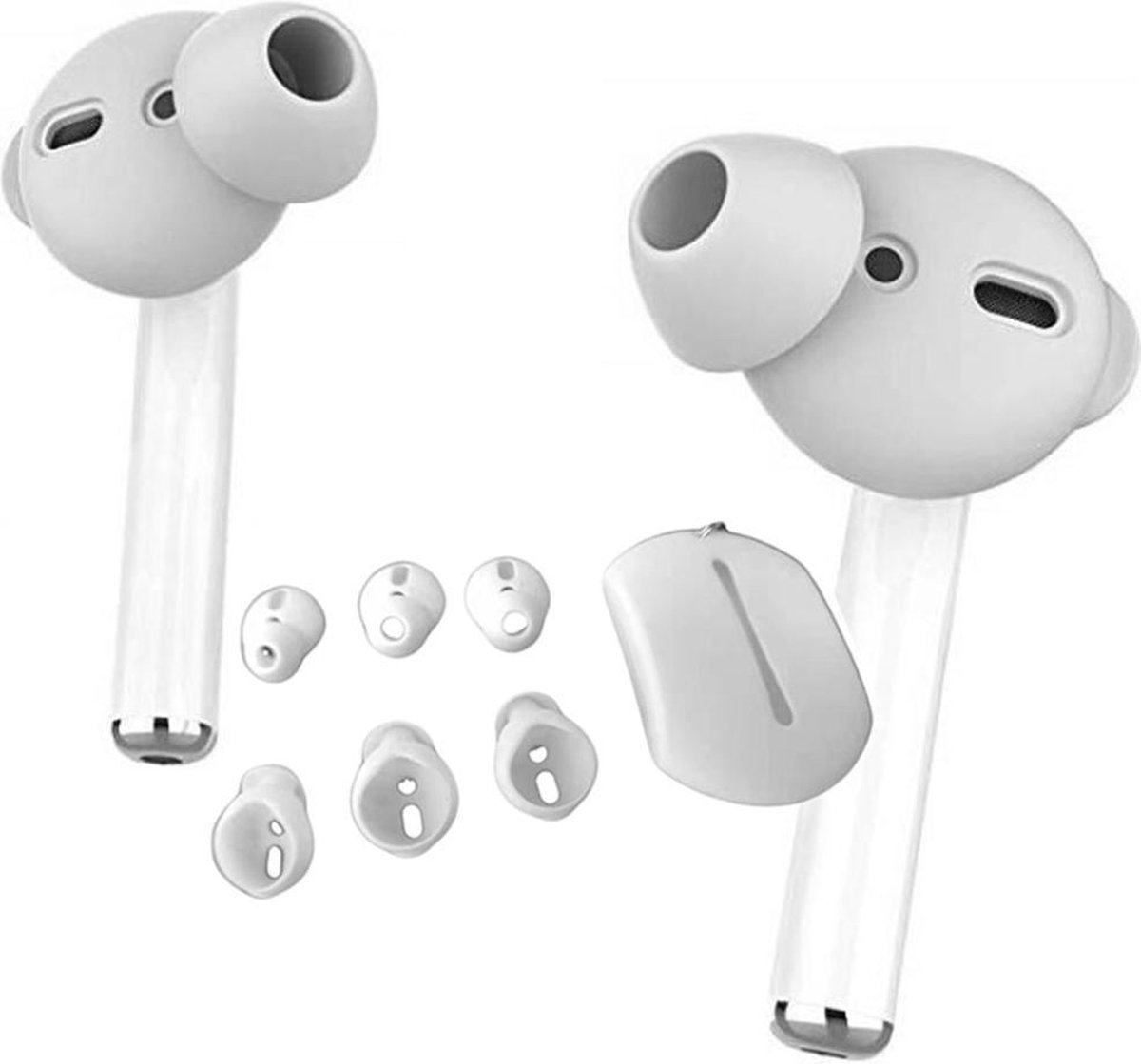 3 paar Silicone Airpods hoesjes - Universele Maten